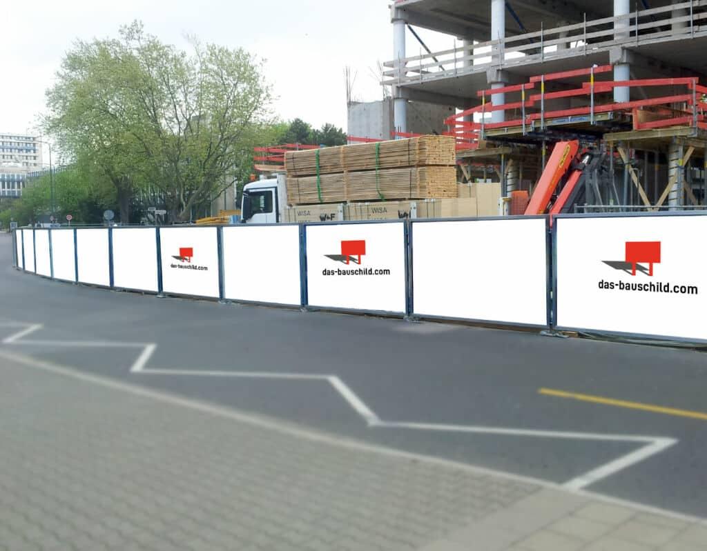 Bauschilder-Bauzäune-Immobilienwerbung